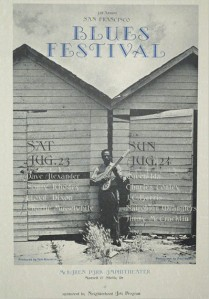 1975 SF Blues Festival poster