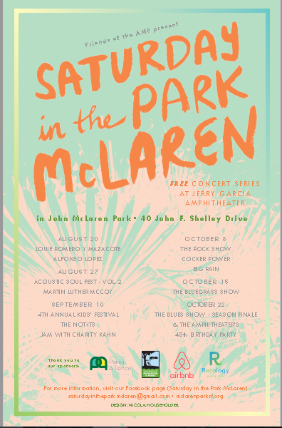 Sat in Park Poster